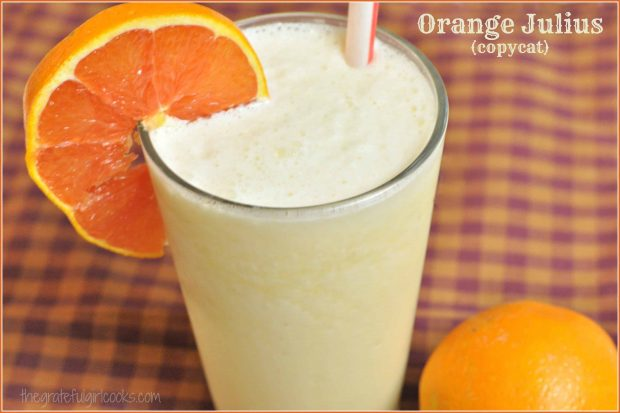 You might also enjoy this Orange Julius (copycat) / The Grateful Girl Cooks!