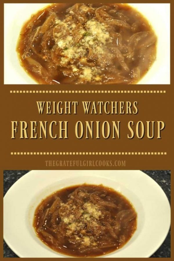 You'll love this recipe for Weight Watchers French Onion Soup, with caramelized onions! All the flavor without the extra calories!