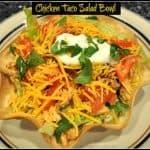 Chicken Taco Salad Bowl