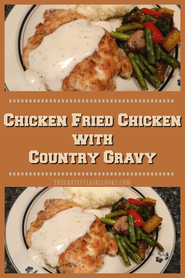 Long pin for Chicken Fried Chicken with Country Gravy