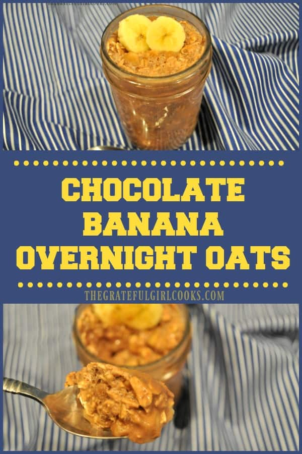Long pin for Chocolate Banana Overnight Oats