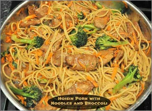 Hoisin Pork with Noodles and Broccoli / The Grateful Girl Cooks!