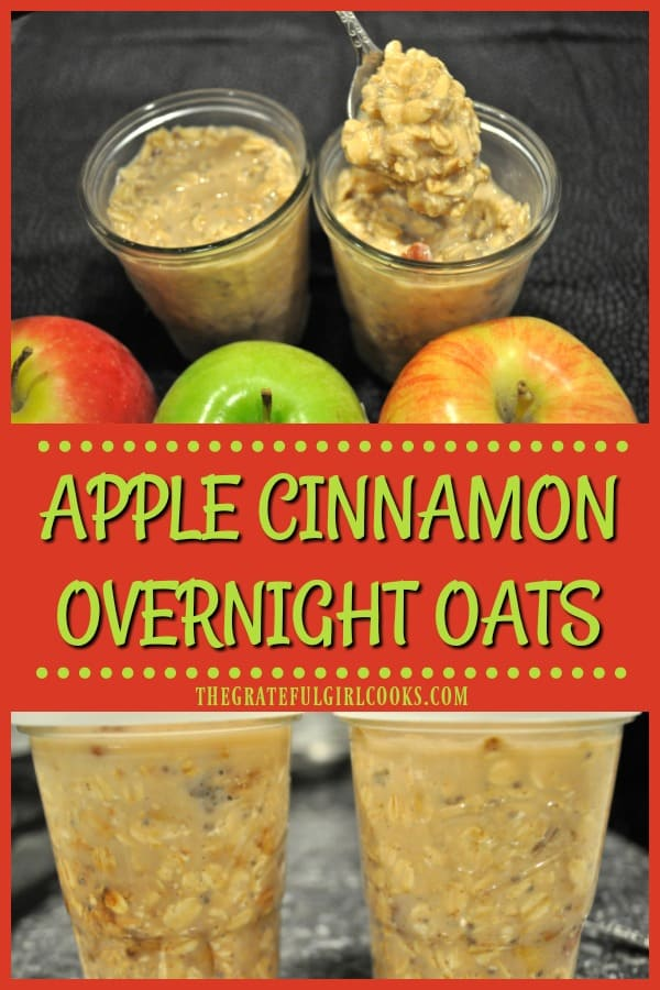 Long pin for apple cinnamon overnight oats
