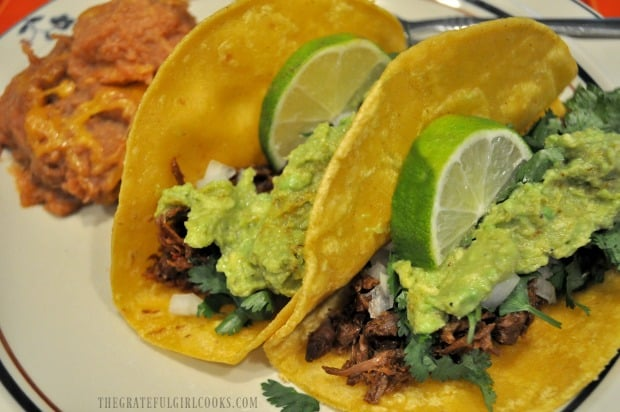 Shredded carne asada meat used to make tacos