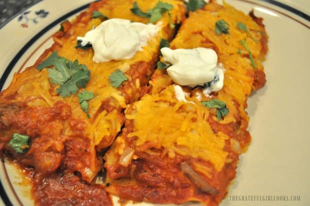 Carne asada meat used to make shredded beef enchiladas