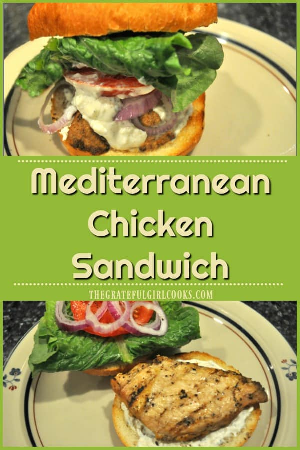 Long pin for Mediterranean chicken sandwich recipe