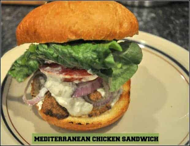 Mediterranean Chicken Sandwich / The Grateful Girl Cooks!