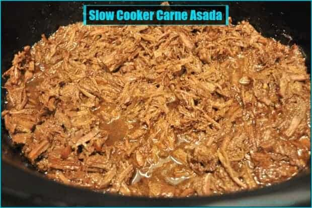 You're gonna love this delicious slow cooker carne asada style Mexican shredded beef, an easy, perfect filling for tacos, burritos, nachos, and enchiladas!