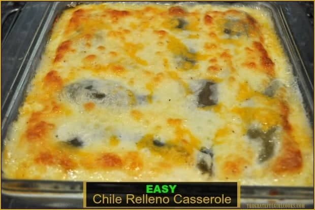 This scrumptious chile relleno casserole is easy to make, is vegetarian, and has all the Southwest flavors of the traditional dish, but is baked, not fried!