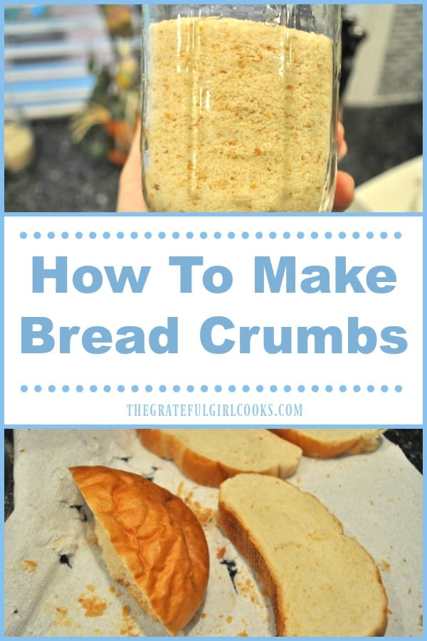 It's super easy to make your own bread crumbs with some stale bread and a food processor or blender, to save you another trip to the grocery store.