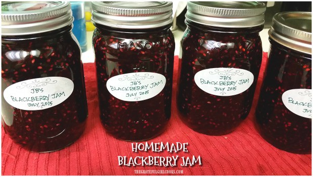 Enjoy the taste of summer berries all year long by making homemade blackberry jam! Instructions included for canning this jam for long term storage.