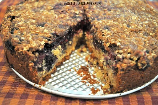 You can see all the berries inside the triple berry streusel coffeecake.