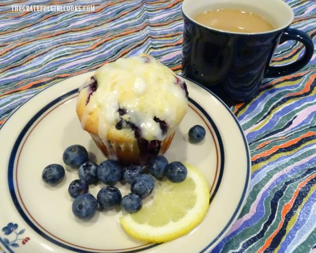 Time for a blueberry muffin with lemon glaze... and a cup of coffee!