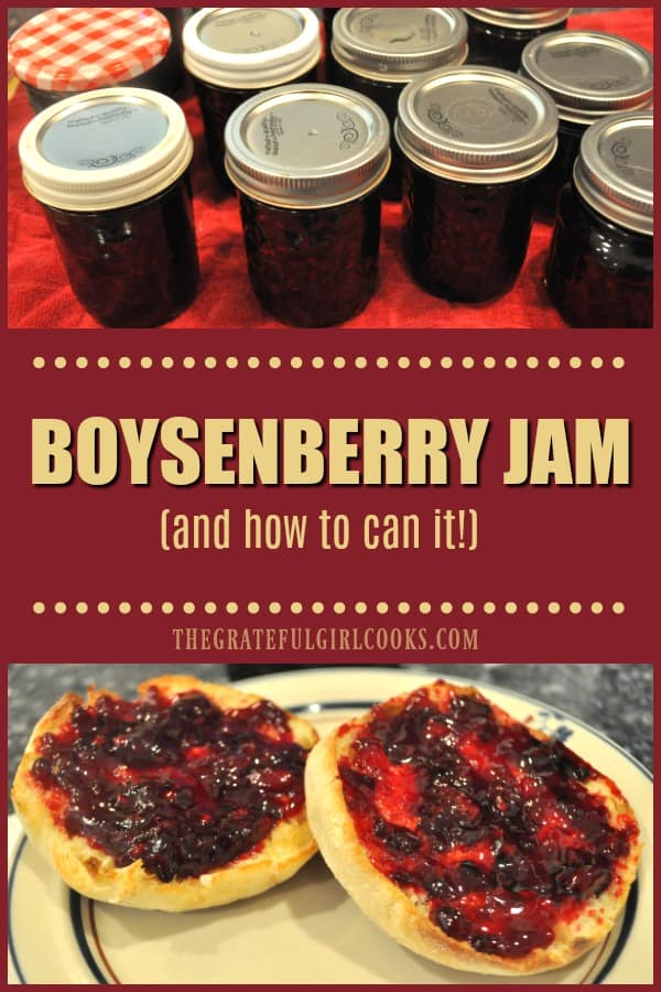 Homemade boysenberry jam is a delicious reminder of summer time at it's BEST! Learn how to make this classic jam, and can it for long term storage!