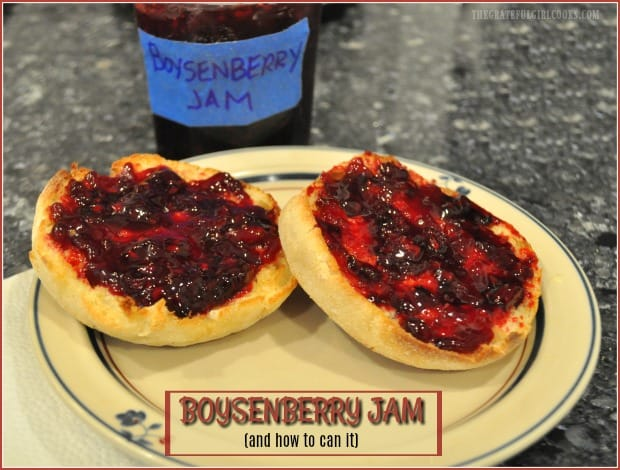 Homemade boysenberry jam is a reminder of summer time at it's BEST! Learn how to make this classic jam, and can it for long term storage!