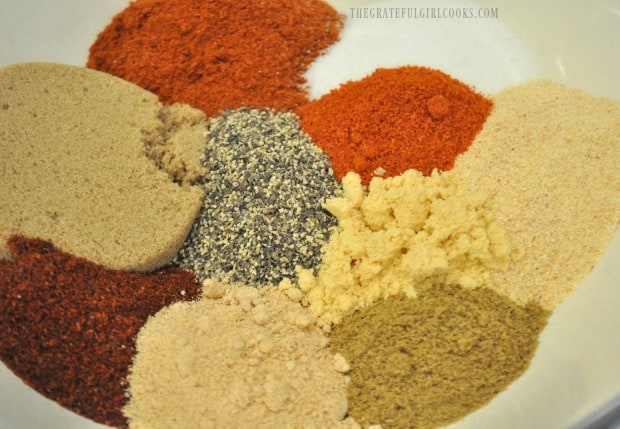 Dry rub spices for smoked pork loin