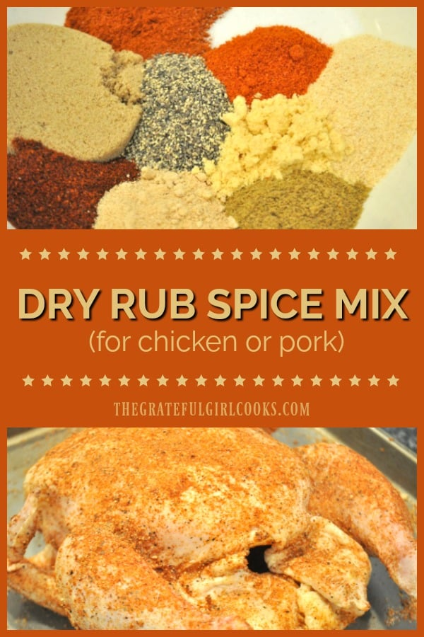 It's easy to enhance the flavor of grilled chicken or pork with this Dry Rub Spice Mix! Make enough mix to season meat for several BBQ's, in under 5 minutes!