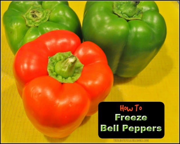 Learn how easy it is to freeze bell peppers for many months, so they are conveniently available whenever you need them for a recipe!