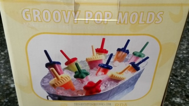 Popsicle molds used to make fruit smoothie popsicles.
