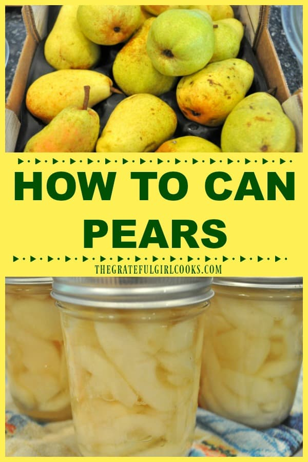 Preserve summer's fruit bounty for long term storage in the pantry by learning how to can pears (fresh and ripe) using a water bath canner!