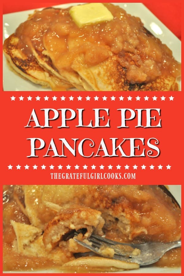You can easily transform ordinary pancake mix into Apple Pie Pancakes, with only a couple added ingredients! You'll love this special breakfast treat!