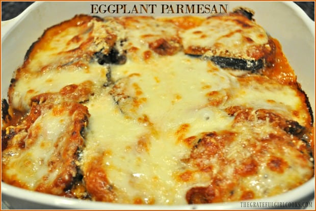 Eggplant Parmesan is a classic Italian meatless dish, with breaded eggplant slices baked with marinara sauce, mozzarella and Parmesan cheeses.