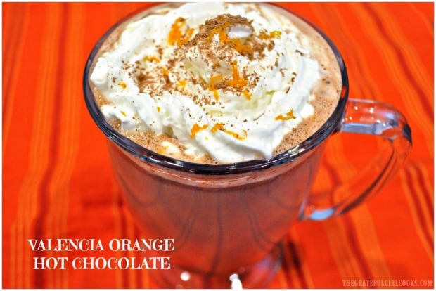 Make decadent, gourmet Valencia Orange Hot Chocolate from scratch in under 10 minutes! Recipe makes 2 servings, and is packed with flavor!