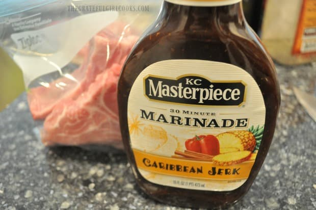 This is the Caribbean-inspired marinade I used for the pork chops.
