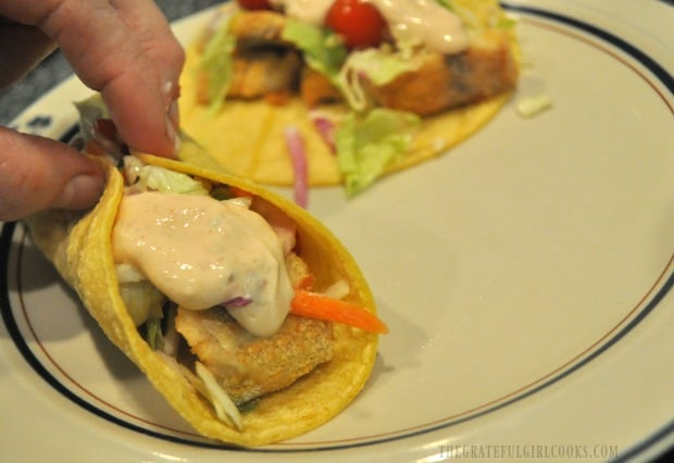 Time to eat a couple baja fish tacos!