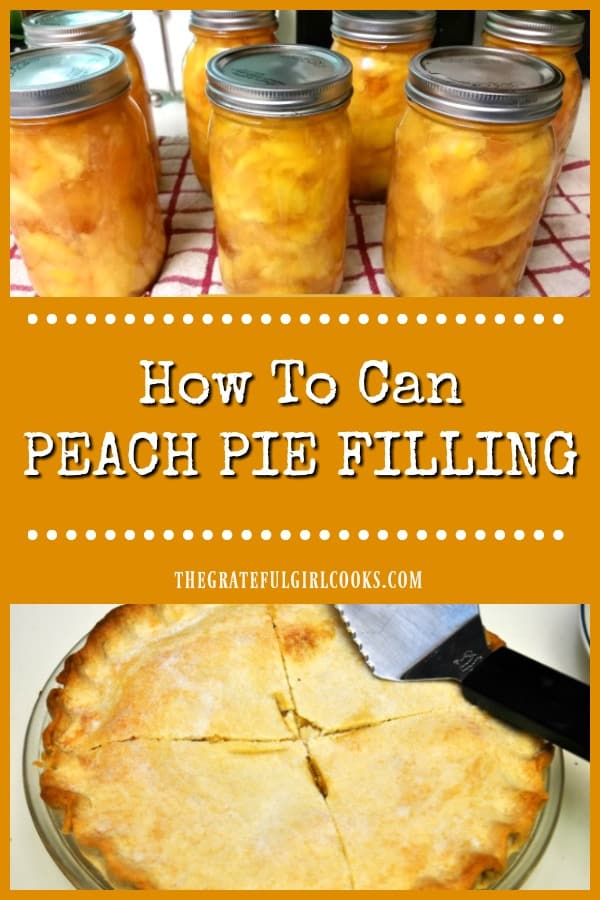 Learn how to can peach pie filling for long term storage in this tutorial. Enjoy the convenience of having jars of pie filling stored in your pantry.