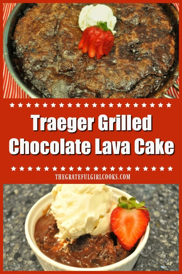 Cook a Traeger Grilled Chocolate Lava Cake (for 10) on a smoker or pellet grill! Easy to make dessert that tastes amazing, and is done in 35 minutes.