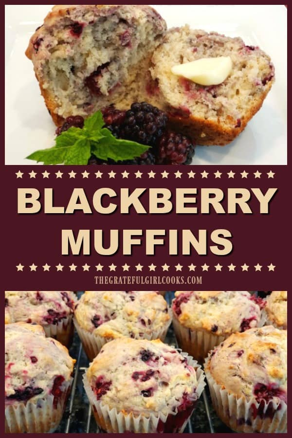 Make some yummy fresh blackberry muffins for breakfast or snack time! This easy recipe makes 16 muffins, and they'll be a hit with family and friends!