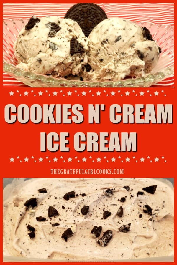 Any time is a great time to make some homemade cookies n' cream ice cream! Grab an ice cream maker and a few simple ingredients, and get ready to EAT!