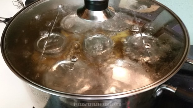 When you can apple pie filling, the jars must be processed in a water bath canner.