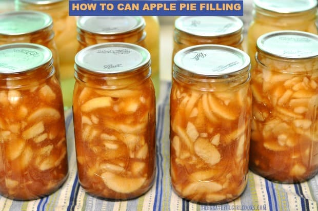Learn how to can apple pie filling for your pantry! Once canned, having homemade pie filling already made for pies, cobblers, etc. is a time saver!