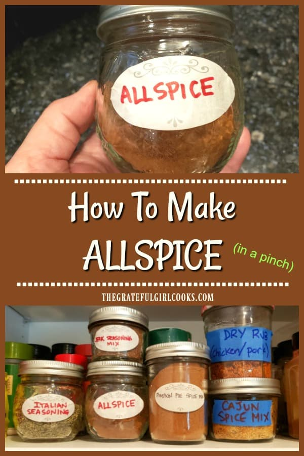 Learn how to make allspice seasoning in 5 minutes. Use this mix in case you don't have time to grow a tree, harvest, roast and grind your own berries!