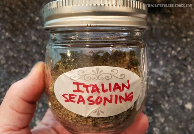 Once you make Italian seasoning, add it to airtight container with lid, and store.
