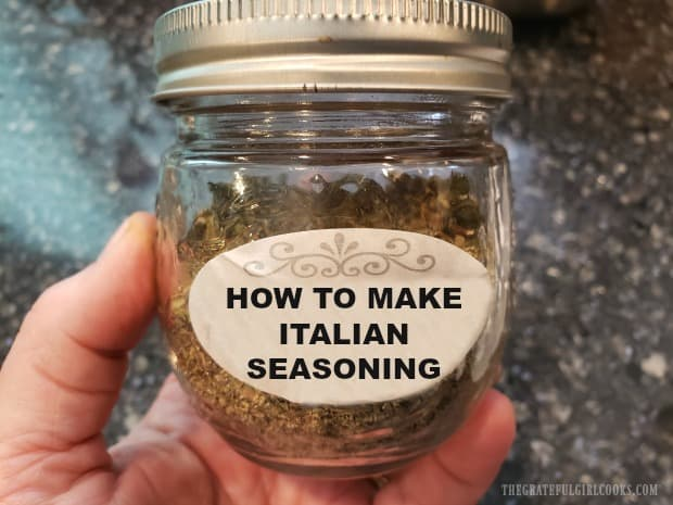 Learn how to make Italian seasoning mix in under 5 minutes! It's easy, and a handy spice mix to have in the pantry to help season Italian meals!