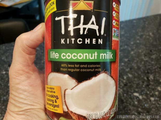 Canned coconut milk (light) is used for this dish.