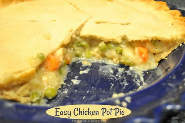 If you enjoy family-friendly comfort food, then you will love this easy chicken pot pie, filled with chicken breast and veggies in a delicious gravy!