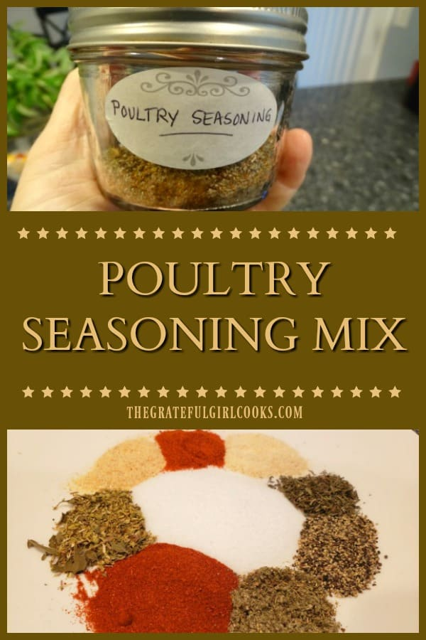 Make your own homemade poultry seasoning mix from scratch in under 5 minutes with this quick and easy recipe!