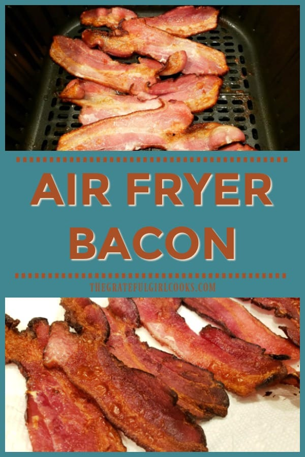Have an air fryer? Learn how easy it is to make crispy air fryer bacon in just a few minutes, using this method of cooking it with super-heated air!
