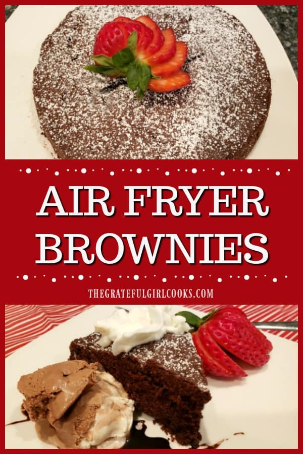 Hungry for dessert? Why not whip up a fast batch of air fryer brownies? This simple recipe makes 8 small, yummy brownie wedges using an air fryer!