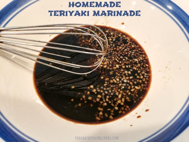Make easy homemade teriyaki marinade in 5 minutes! This Asian-inspired sauce flavors and tenderizes chicken, steak, pork & seafood, before cooking.