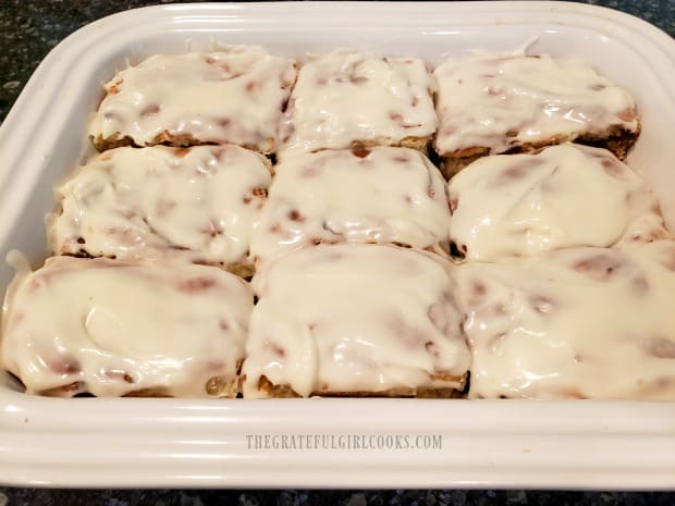 The successfully tested yeast was used to make homemade cinnamon rolls.