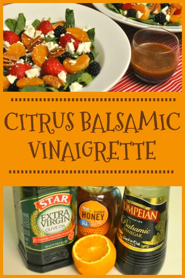 Make a delicious citrus balsamic vinaigrette to dress your favorite mixed green salad! Recipe only has 4 ingredients and is ready in under 5 minutes!