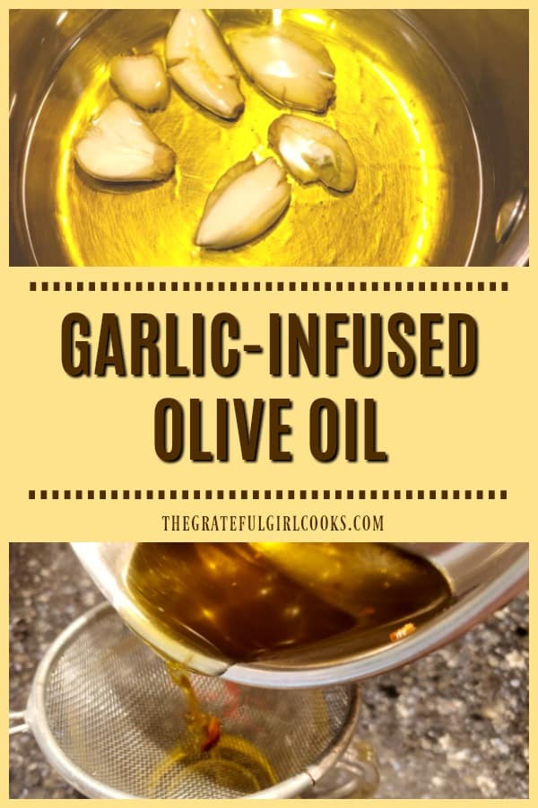 Need Garlic-Infused Olive Oil for a recipe? It's easy to make your own in minutes (with 2 ingredients), for salad dressings, veggies, & other dishes.