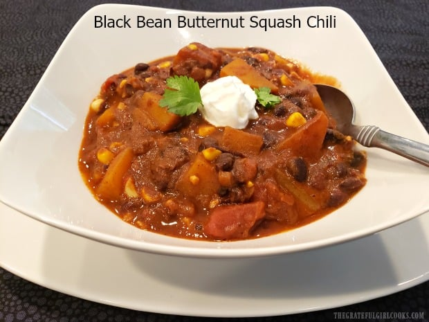 Black Bean Butternut Squash Chili is a hearty meatless dish, with all the flavor of a traditional chili. It's thick, delicious, and simple to prepare!