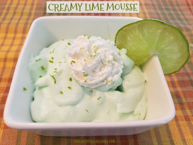 Looking for a light, delicious, flavor-filled EASY dessert? Try this cold, creamy lime mousse, which is made in 5 minutes using only 4 ingredients!
