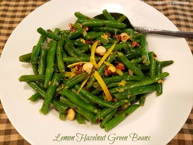 Lemon Hazelnut Green Beans are a delicious, flavor-filled side dish, and are a perfect choice for either a casual meal or a holiday feast!